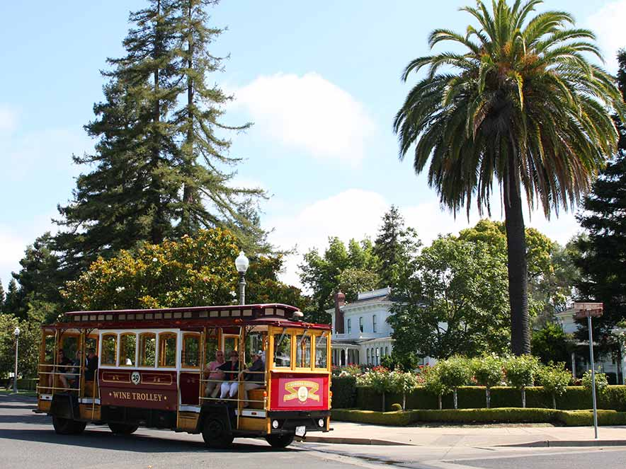 Tour wine country in the Sonoma Valley Wine Trolley