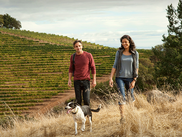 Go hiking at Kunde Family Winery in SOnoma Valley, Sonoma County, California