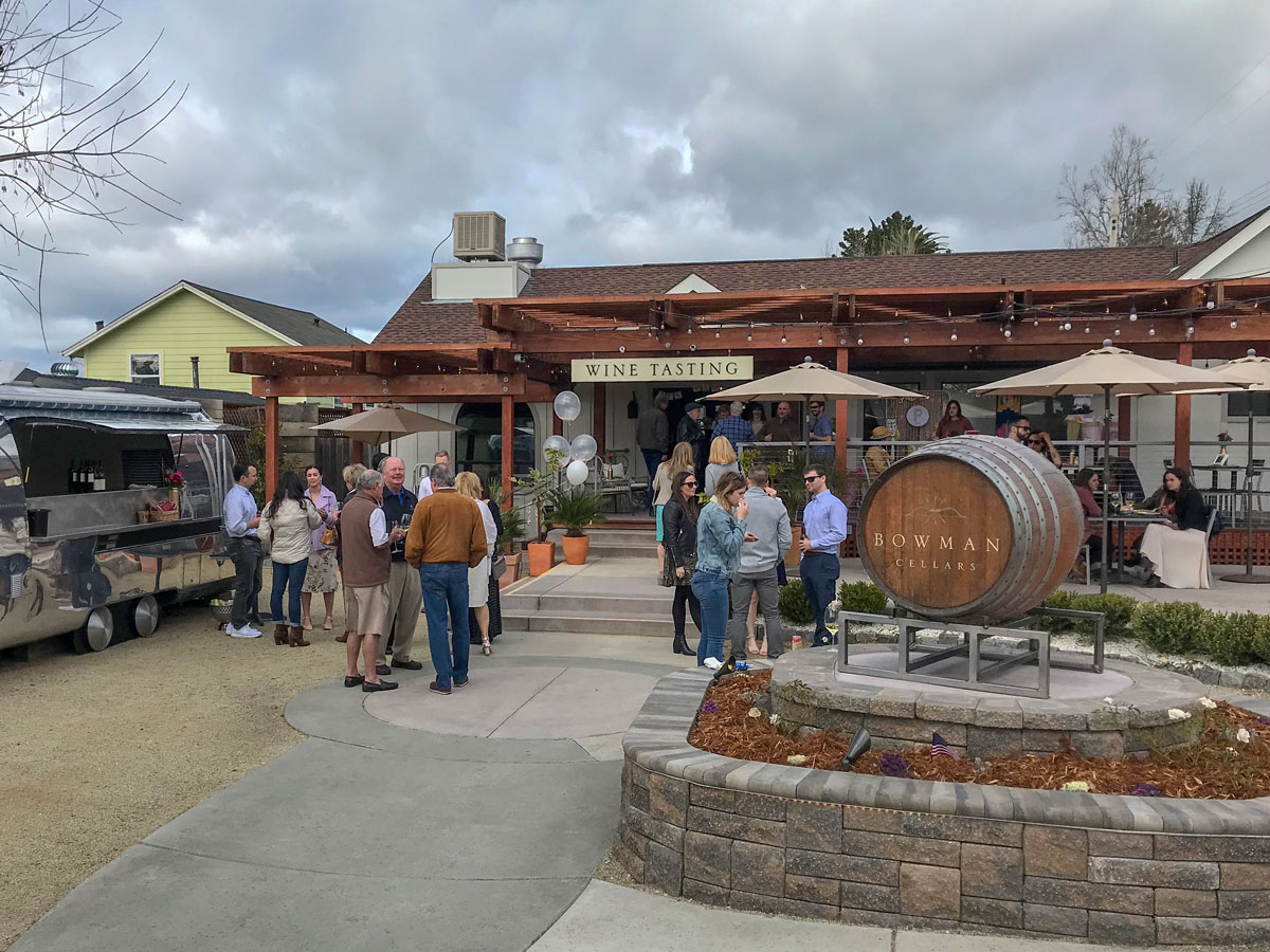 Bowman Cellars tasting room in Graton, Sonoma County, California