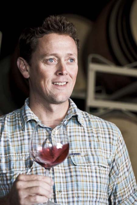 Winemaker Wells Guthrie of Copain Wines in Healdsburg, Sonoma County, California