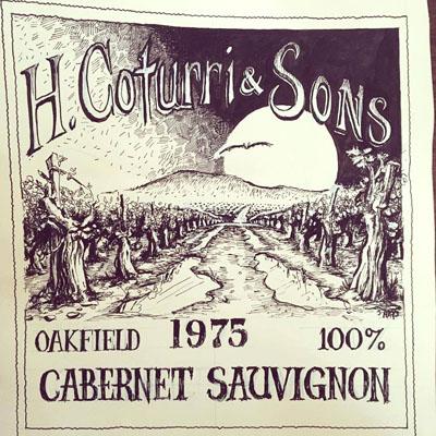 Coturri Winery label in Sonoma County, California