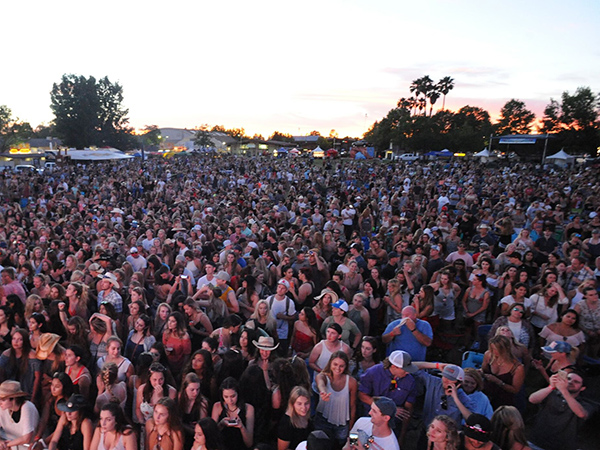Country Summer Music Festival in Sonoma County, California