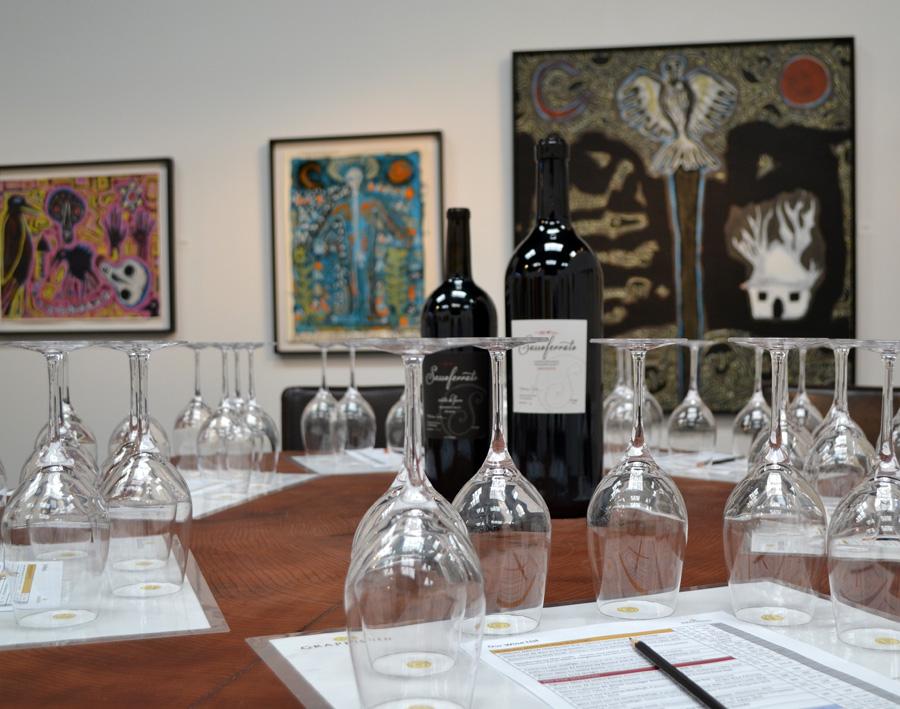 GrapeSeed Wines in the Paul Mahder Gallery in Healdsburg, California