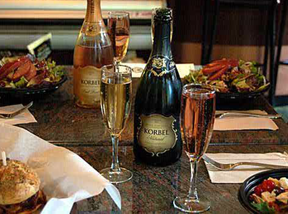 Deli food at Korbel Champagne Cellars, Guerneville, Sonoma County, California