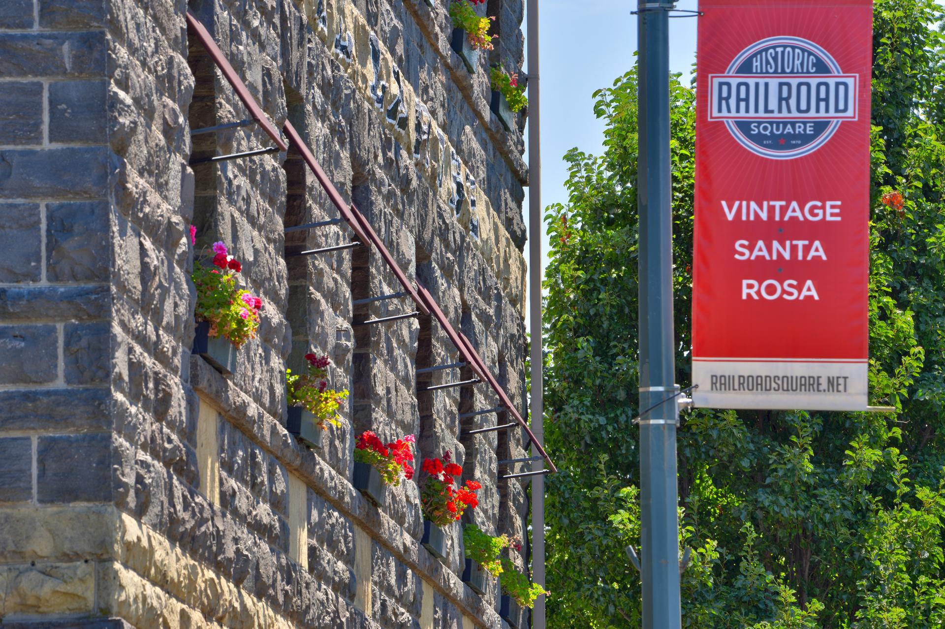 Hotel La Rose in Historic Railroad Square in Santa Rosa, California