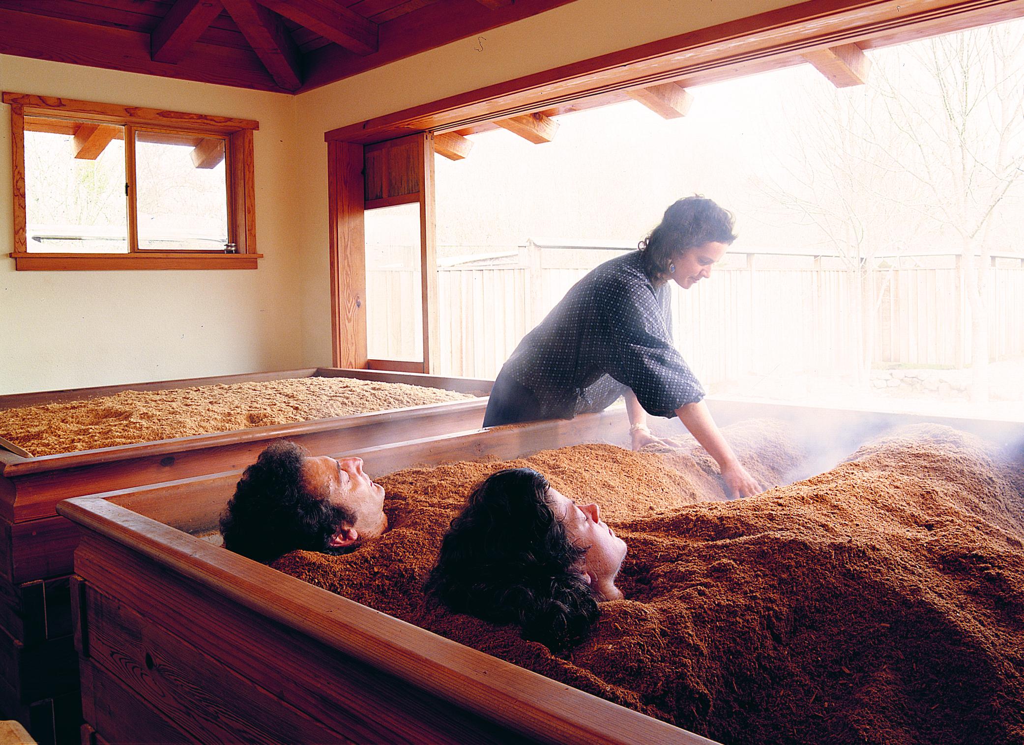 Cedar Enzyme Bath at Osmosis Day Spa in Fresstone, Sonoma County, California