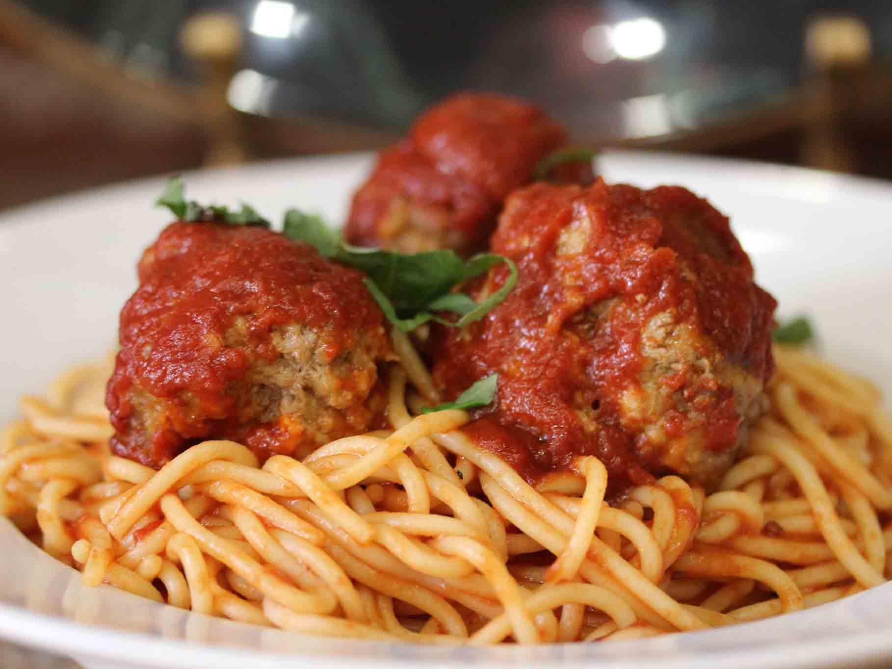 Spaghetti at Betty's Spaghetti in Guerneville, Sonoma County, California
