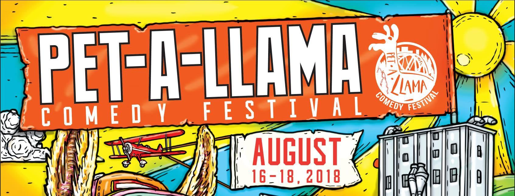 Pet-A-Llama Comedy Festival in Petaluma, Sonoma County, California