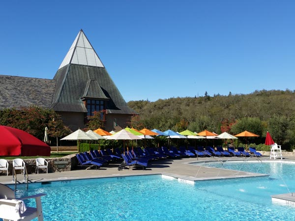 Swimming at the pool at Francis Ford Coppola, Geyserville, Sonoma County, California