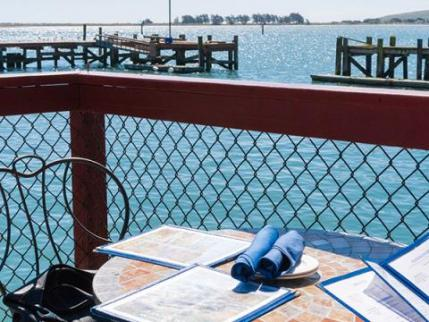 Dining at Lucas Wharf in Bodega Bay Sonoma County