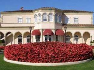 The beautiful garden and Ferrari-Carrano Winery