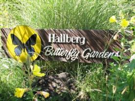 Hallberg Butterfly Gardens in Sebastopol, Sonoma County, California