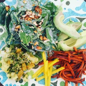 lunchette salad plate in petaluma sonoma county