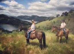 horseback riding at the ranch at lake sonoma in sonoma county