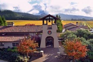 High angle photo of St. Francis with the best winery restaurant awarded by OpenTable
