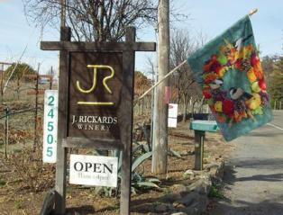 J. Rickards Winery signs on Chianti Rd.