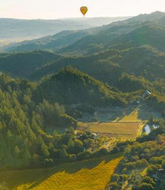up and away hot air ballooning sonoma county