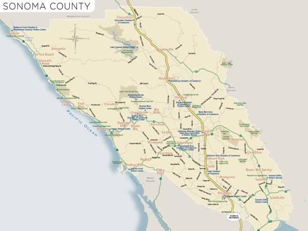 Graton California Map.Sonoma County Sonoma Wineries Map Sonoma County Official Site