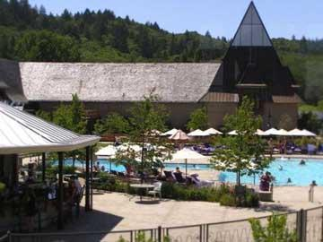 Top winery destination for summer visits: Coppola Winery and pools