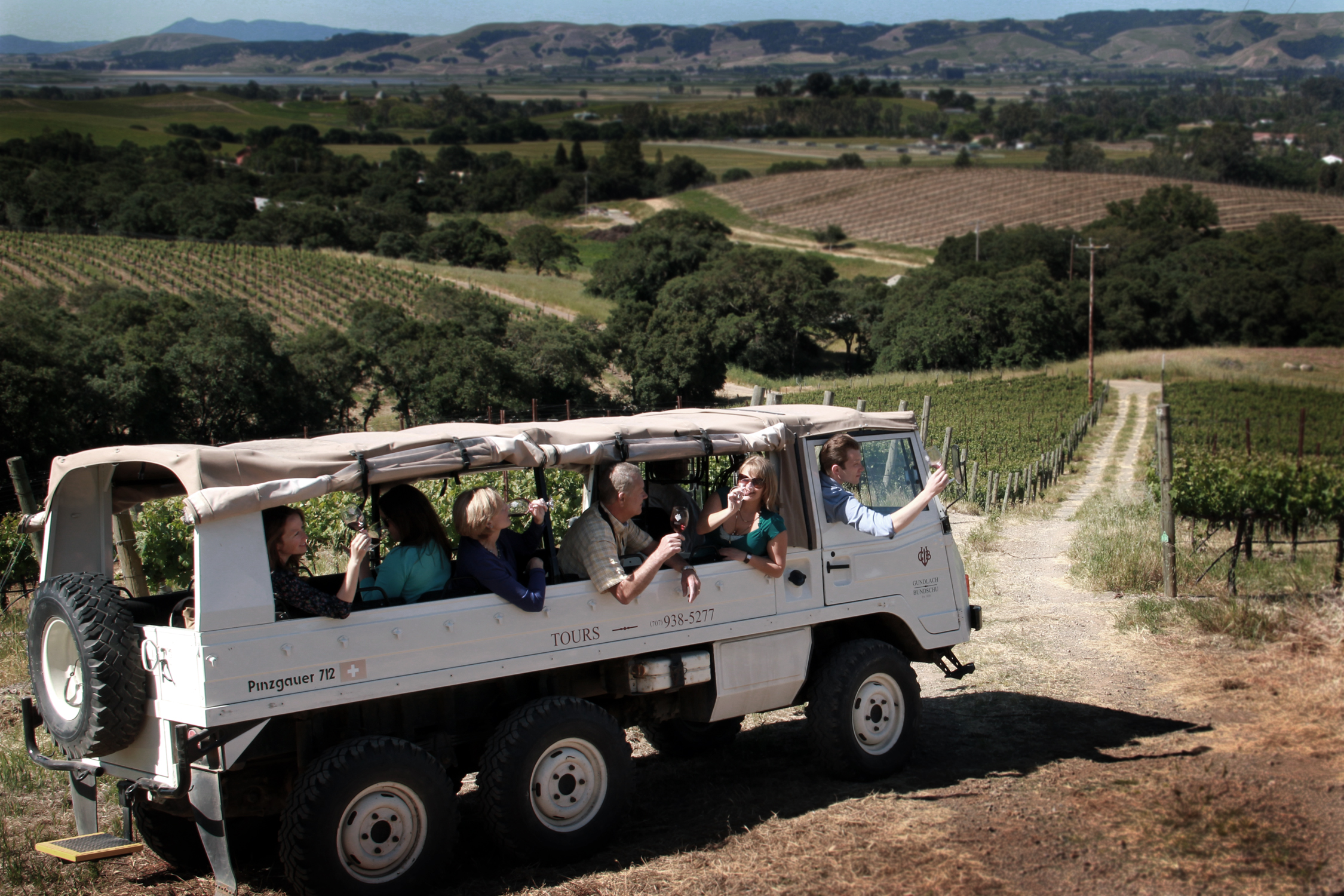 Go on a unique vineyard tour with Gundlach Bundschu Winery in Sonoma Valley, Sonoma County, California