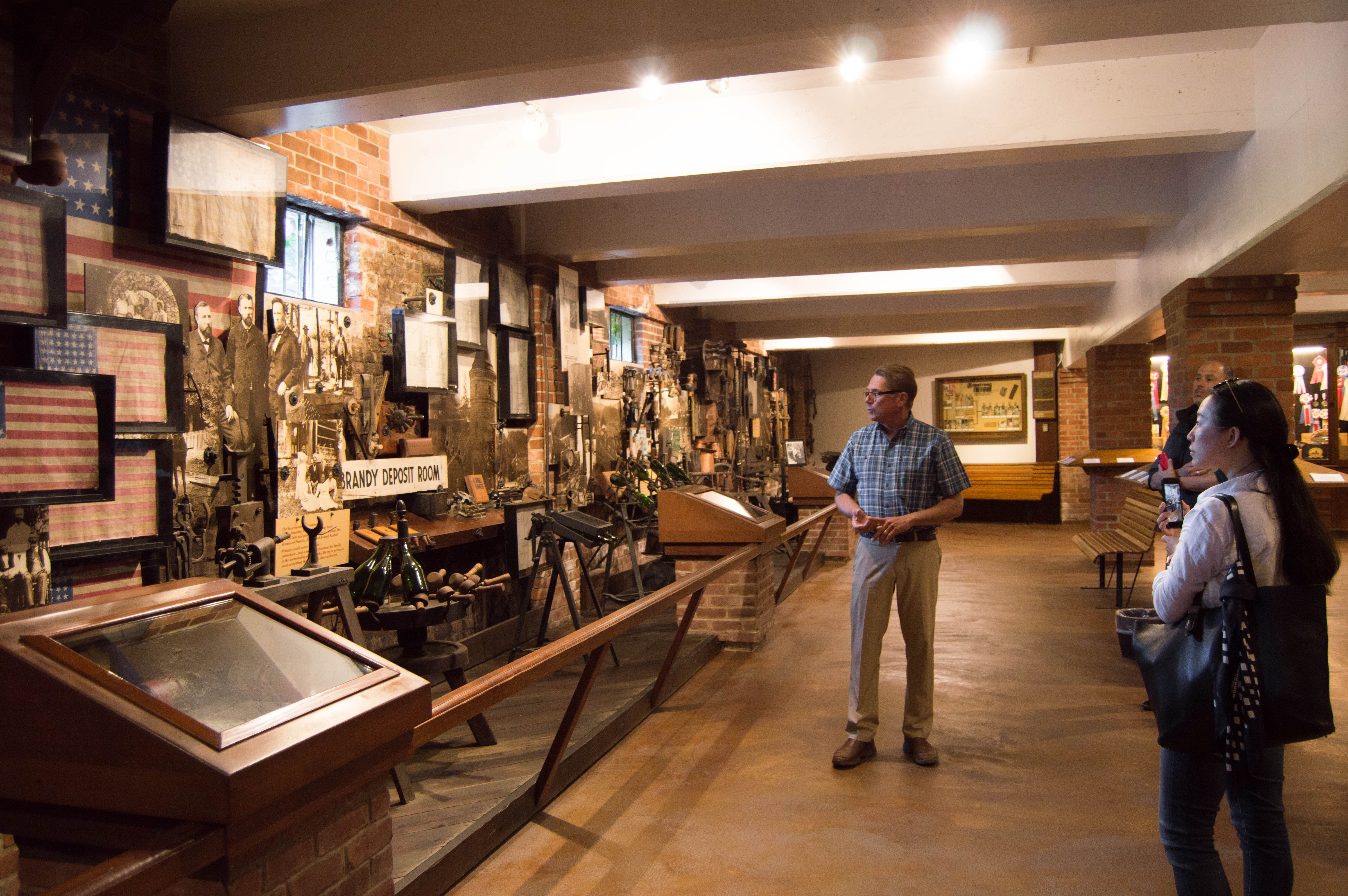 Historical tour at Korbel Champagne Cellars in Guerneville, Sonoma County, California