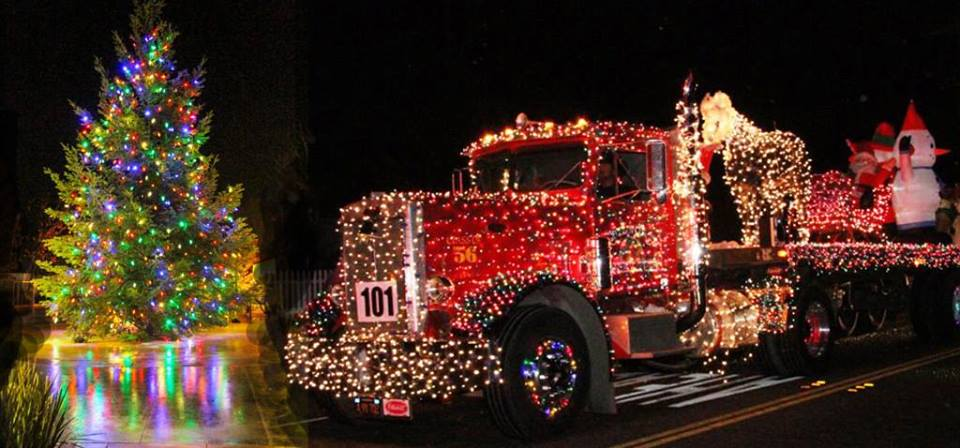 Geyserville Tree Lighting and Tractor Parade, Geyserville, California