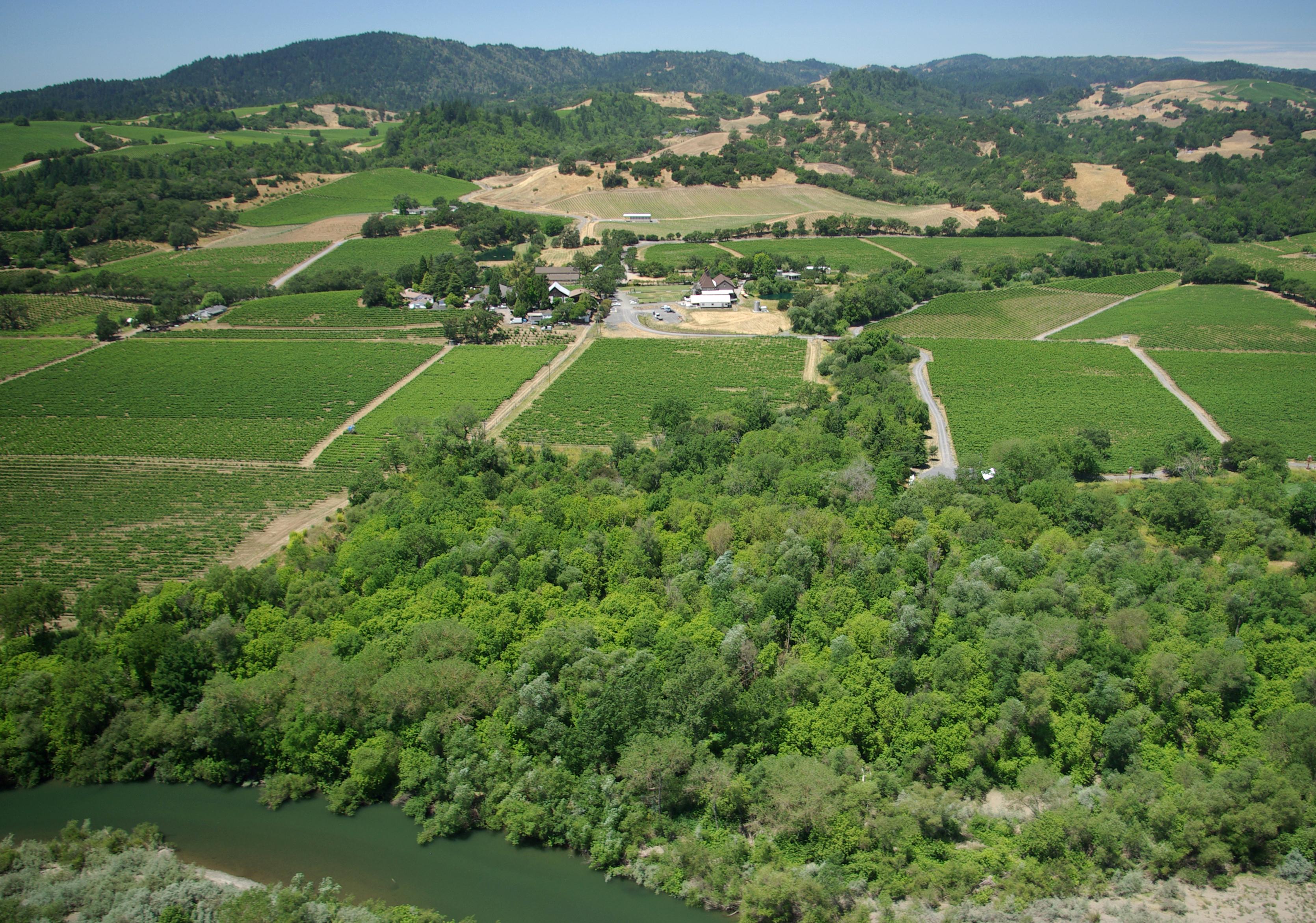 Russian River Valley in Sonoma County, California
