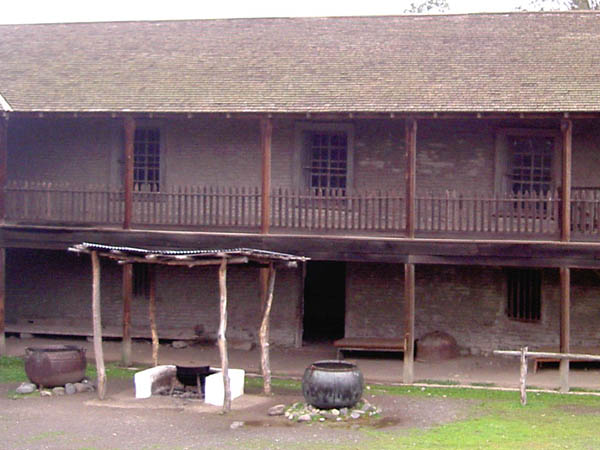 The exterior of the Petaluma Adobe State Historic Park in Sonoma County