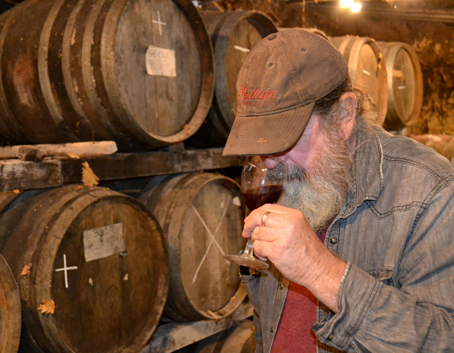 Tony Coturri makes natural wines with his label Coturri Winery in Sonoma County, California