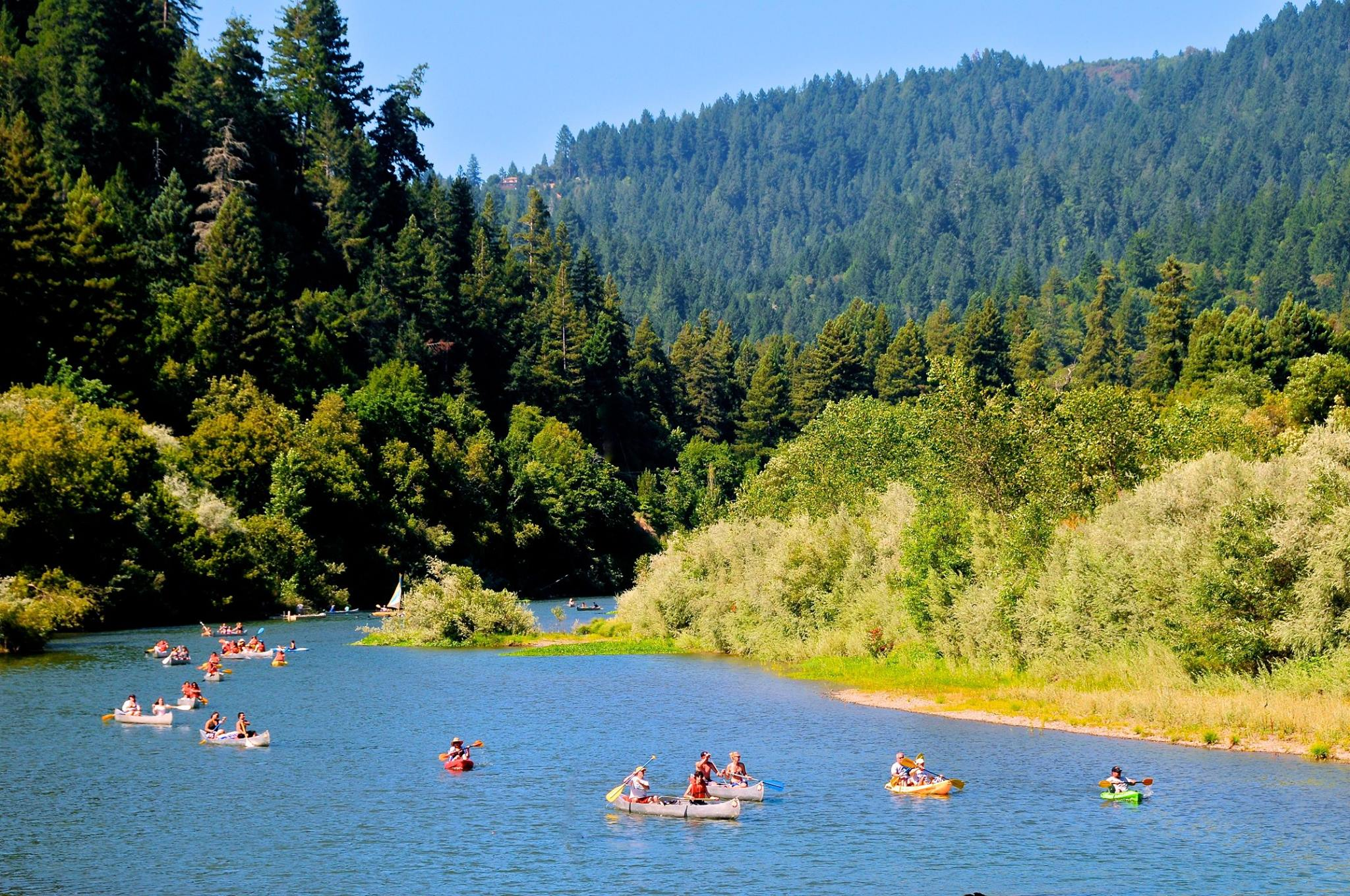 Go canoeing with Burke's Canoe Trip or standup paddleboarding with SUP Odessey on the Russian River in Sonoma County, California