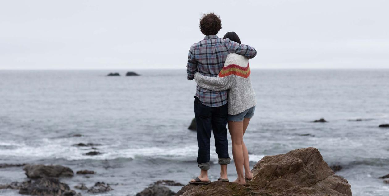 couple at Sonoma Coast beach