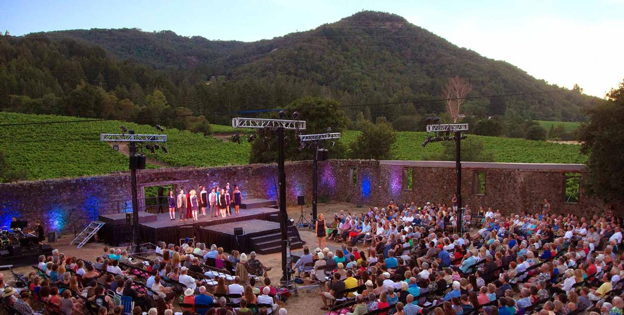 Enjoy performances from the Transcendence Theatre at the outdoor theater in Jack London State Park