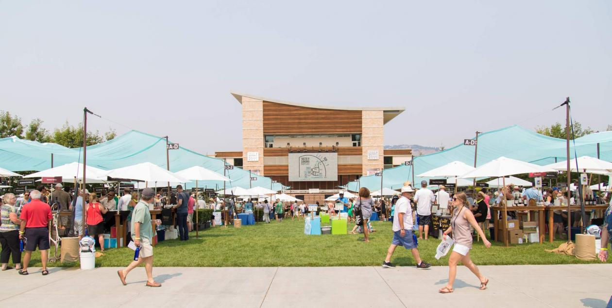 People enjoy the Taste of Sonoma at the Green Music Center at Sonoma State University, Rohnert Park
