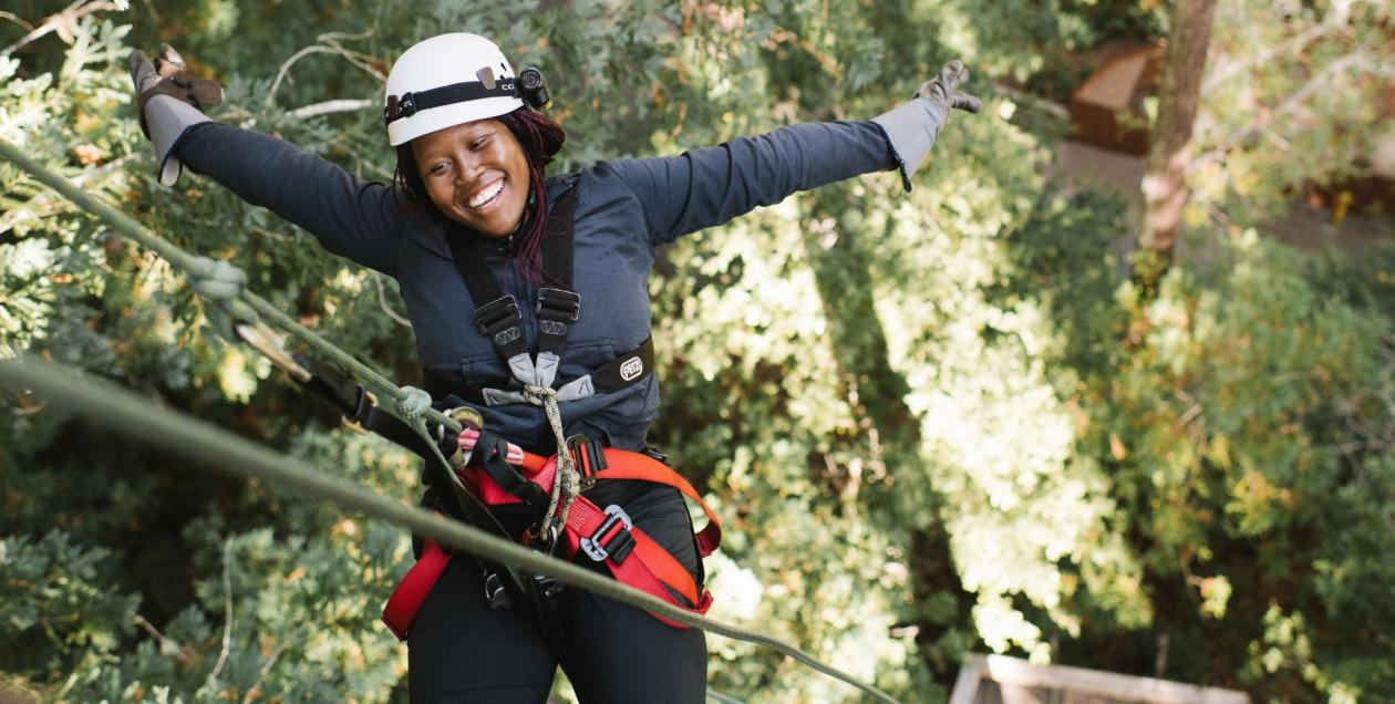 Ziplining through Redwoods with Sonoma Canopy Tours