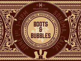 Highwayman Wines Boots Bubbles
