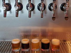 No Quarter Brewing taps and glasses