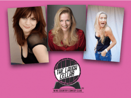 Comedians Charlene Mae, Laura Hayden, Maria Herman Photo