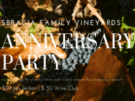 Sbragia Family Vineyards Anniversary Party Photo