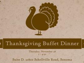 Thanksgiving Buffet Meal Photo