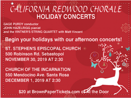 California Redwood Chorale Holiday Concerts Photo
