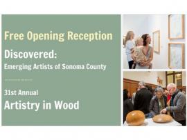 Opening Reception for Discovered and Artistry in Wood Photo