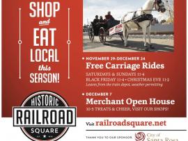 Historic Railroad Square FREE Carriage Rides Photo