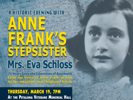 A Historic Evening with Anne Frank's Stepsister Eva Schloss Photo