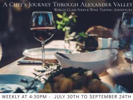 Virtual Event: A Chef's Journey Through Alexander Valley - Focus on Merlot Photo