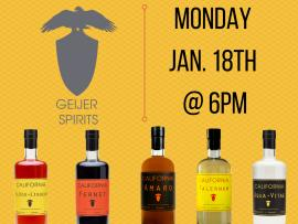Virtual Event: Tasting with Geijer Spirits Photo