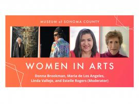 Virtual Event: Women in Arts: Donna Brookman, Maria de Los Angeles, Linda Vallejo Photo