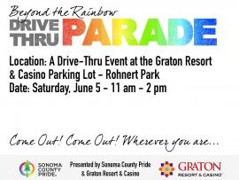 "Sonoma County Pride ""Beyond The Rainbow"" Drive-Thru Parade Photo"