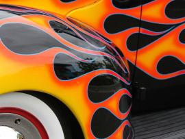 Geyserville Fall Colors & Vintage Car Show Photo