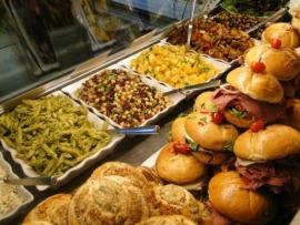The Deli Case at Korbel - Sandwiches and salads