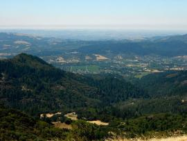 Sugarloaf Ridge State Park - View of Sonoma Valley from Bald Mt.
